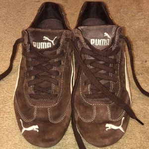 Puma Brown/Off-white Casual Sneakers